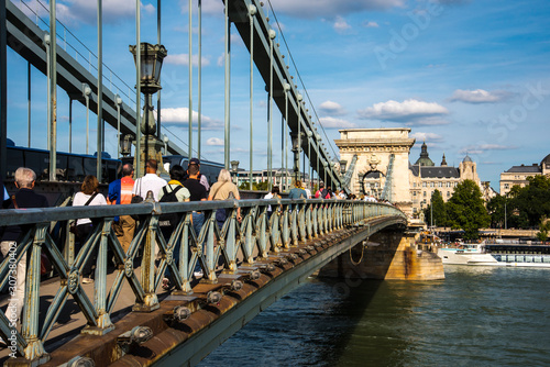 Budapest the Capital city of Hungary is divided by the River Danube Fototapet