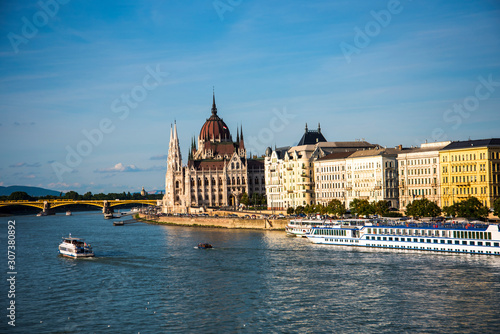 Budapest the Capital city of Hungary is divided by the River Danube Tablou Canvas