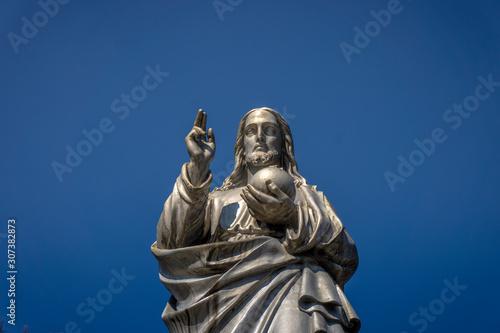 sculpture of jesus in the cemetery Wallpaper Mural