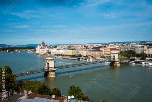 Fotografie, Tablou  Budapest the Capital city of Hungary is divided by the River Danube