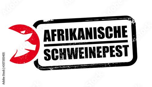 Stempel Afrikanische Schweinepest Canvas Print