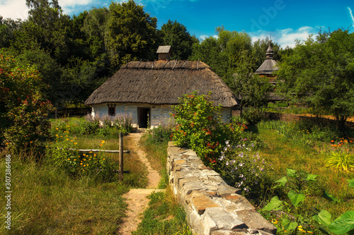 reconstruction of an old house, which was built on the territory of Ukraine in rural areas in the 17-19th century