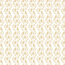 Ears Of Wheat Vector Seamless Pattern