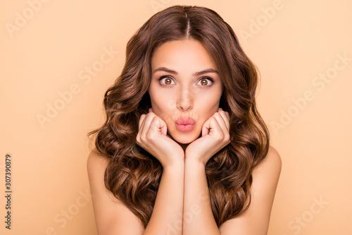Obraz na płótnie Close-up portrait of her she nice-looking attractive lovely feminine sensual che