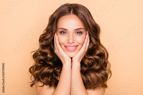 Fototapeta Close-up portrait of her she nice-looking attractive sweet tender feminine cheer