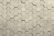 Geometric hexagons. Abstract silver metal background. Toning.