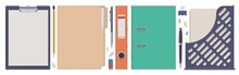 Stationery Set. Folder Clip Bo...
