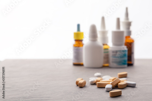 Photo Set medicines for treatment various ailments and symptoms