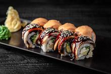 Sushi Roll (Maguro) Salmon, Sm...