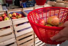 Pommes En Vente Sur Le Marché