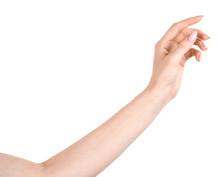 Female Caucasian Hands  Isolat...