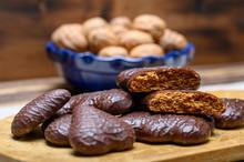 Tasty Gingerbread Glazed Cookies From Torun, Poland