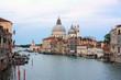 Beautiful view of Grand Canal and Basilica Santa Maria della Salute in Venice, Italy.