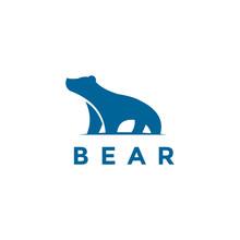 Blue Bear Logo Icon Designs