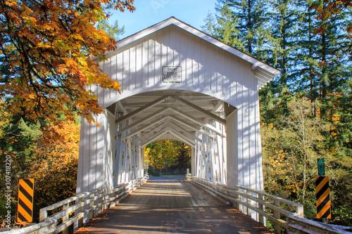 Short Bridge is a covered bridge in Cascadia, Oregon near Sweet Home on Highway 20.
