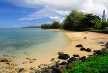 Quiet Beach On North Shore Kauai Hawaii