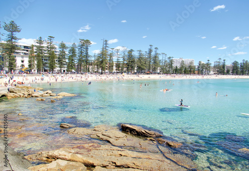 Shelly Beach and Manly Beach, Sydney, New South Wales, Australia, Australasia Canvas Print