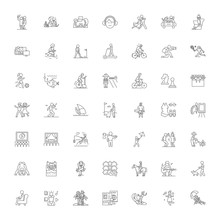 Leisure Activities Line Icons,...