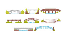 Wooden, Metal And Stone Bridge...