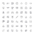 Education structure line icons, signs, symbols vector, linear illustration set