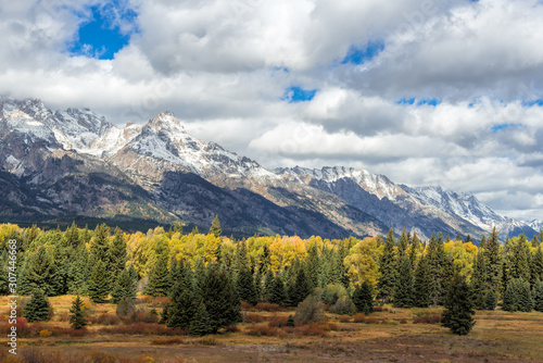 Scenic view of the Grand Teton National Park #307446668