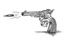 Vintage / Old Revolver Gun Wit...