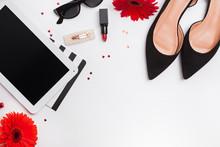 Shoes, Lipstic, Tablet, Sungla...