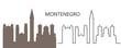 Montenegro logo. Isolated Montenegrin architecture on white background
