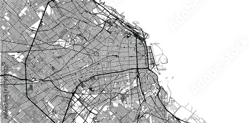 Photo Urban vector city map of Buenos Aires, Argentina
