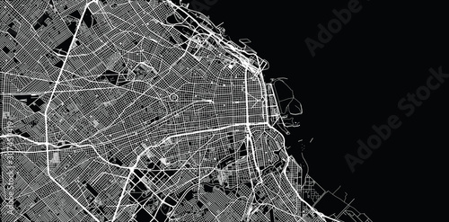 Fototapeta Urban vector city map of Buenos Aires, Argentina