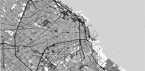 Fotografía  Urban vector city map of Buenos Aires, Argentina