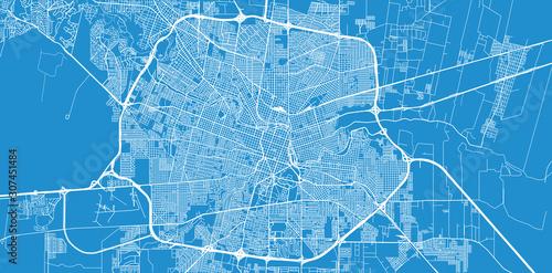 Pinturas sobre lienzo  Urban vector city map of Cordoba, Argentina