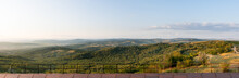 Panorama Of Green Hills And Re...