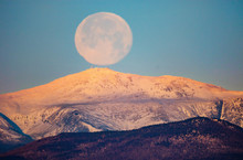 Full Moon Sets Over New Hampsh...