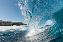 Close Up Shoot Of A Wave Breaking