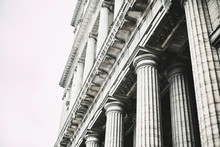 White Columns Of The Building ...