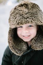 Closeup Toddler Boy Smiling In...