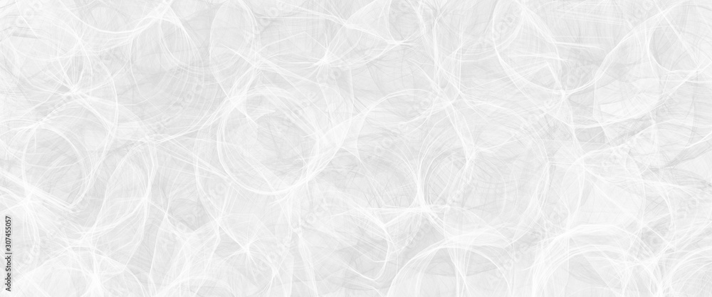 Fototapeta Abstract modern white background pattern with texture and faint detailed circle swirl pattern