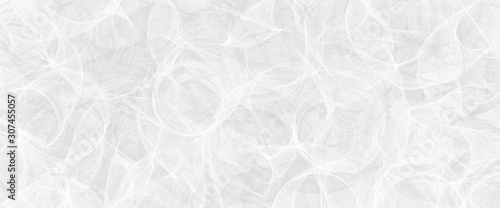 Obraz Abstract modern white background pattern with texture and faint detailed circle swirl pattern - fototapety do salonu