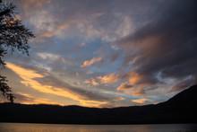 Sunset At Lake McDonald In Mon...