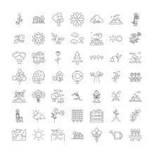 Spring Holidays Line Icons, Signs, Symbols Vector, Linear Illustration Set