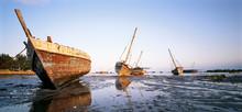 Beached Boats In Zanzibar