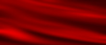 Red Silk Texture. Abstract Christmas Background.
