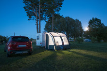 Mobile Home On Camp Site