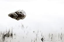 Rock In Jordan Pond Acadia