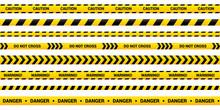Caution Tape Set Of Yellow War...