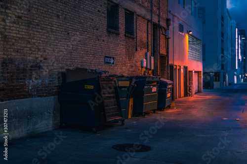 street at night Wallpaper Mural