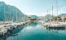 Yachts, In The Lake Garda, Italy, Europa.