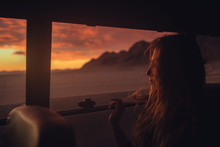 A Sunset Drive With A Girl In The Car