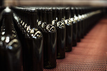 Dark Brown Empty Wine Bottles